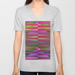 Geometrical-colorplay-pattern #1 Unisex V-Neck