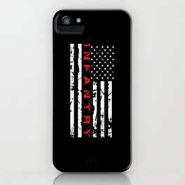 Infantry: Distressed American Flag iPhone Case