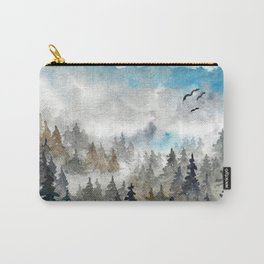 Landscape V: Soft Pines Carry-All Pouch
