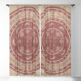 Bear Spirit (Maroon) Sheer Curtain