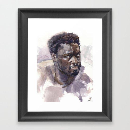 Adewale Akinnuoye-Agbaje (Mr. Eko) Framed Art Print