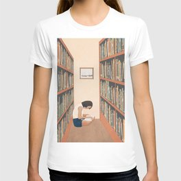 Getting Lost in a Book T-shirt