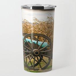 Cannon amongst the Corn Antietam National Battlefield Civil War Battleground Maryland Travel Mug