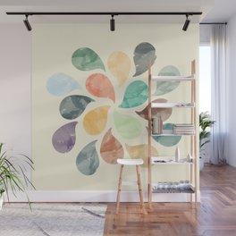 Colorful Water Drops (Watercolor version) Wall Mural