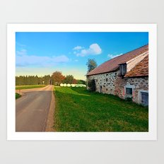 Traditional farmhouse scenery | landscape photography Art Print