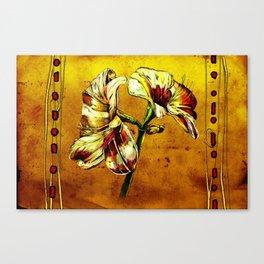 Flower vintage illustration art Canvas Print