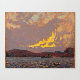 Tom Thomson - Canoe Lake, Algonquin Park  - Canada, Canadian Oil Painting - Group of Seven Canvas Print