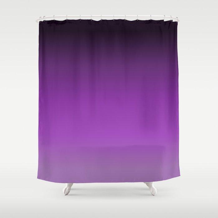Dark Purple Ombre Shower Curtain