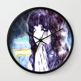 Neon Rain Wall Clock