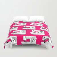 sewing Duvet Covers featuring Sewing Machine by The Wellington Boot
