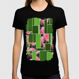 Pink Roses in Anzures 2 Art Rectangles 12 T-shirt