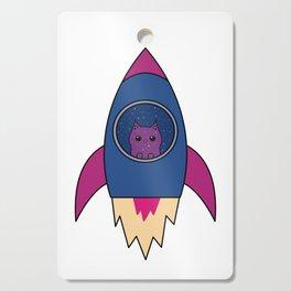 Cat Rocket Spaceship Galaxy Universe Milkyway Cutting Board