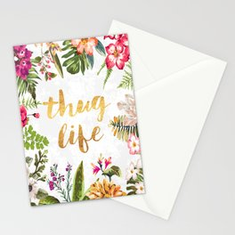 Thug Life - white version Stationery Cards