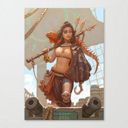 Live Free Harpooner Canvas Print