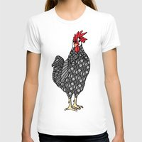 gray pattern T-shirts featuring Gray Chicken by ArtLovePassion