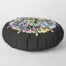 Flowers 3D Multicolore Artwork A16 Floor Pillow