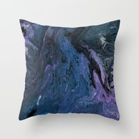 celestial Throw Pillows featuring Celestial by BevyArt