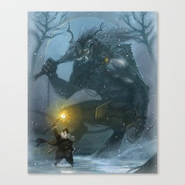 St Nick vs the Yule Lord Canvas Print