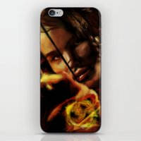 katniss iPhone & iPod Skins featuring Katniss by tgronberg