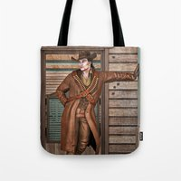 cowboy Tote Bags featuring Cowboy by Design Windmill