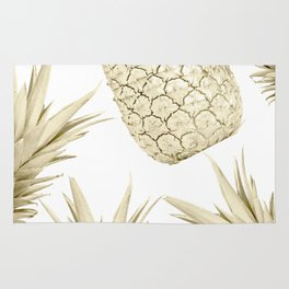 Gold Pineapple Party Rug