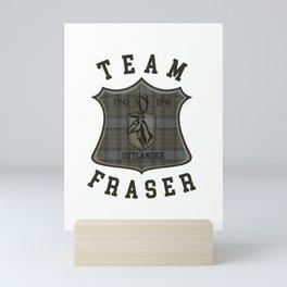 TEAM FRASER TARTAN Mini Art Print
