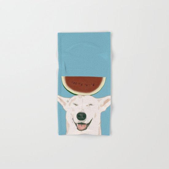 Watermelon doggy smile Hand & Bath Towel