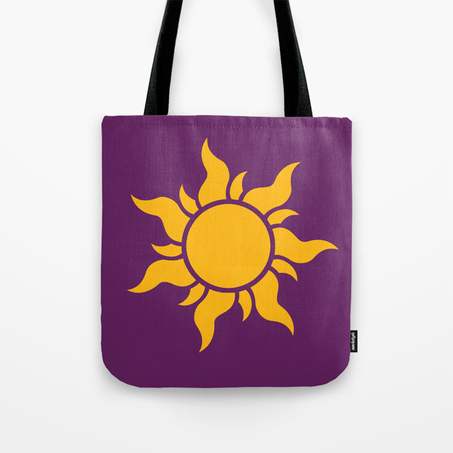 Tangled Rapunzel Sun Logo Corona Symbol Tote Bag By Teohoble Society6