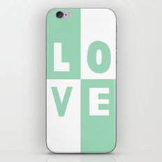 Love Mint iPhone Skin