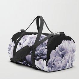 Peony Flower Bouquet Black and White #decor #society6 #buyart Duffle Bag