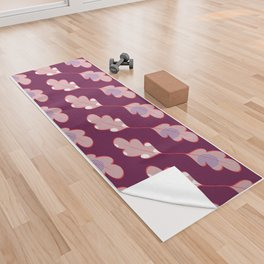 Dotted leaves Yoga Towel