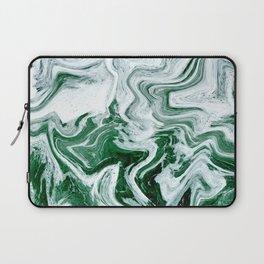 Green Ocean Marble Laptop Sleeve