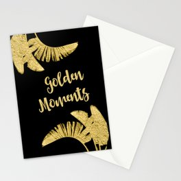 Golden Moments Glamorous Typography And Tropical Leaf Stationery Cards