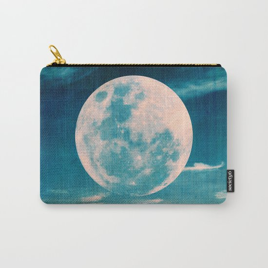 Full moon - Blue Carry-All Pouch