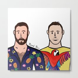 Beard Boy: David & Chris Metal Print