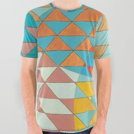 Triangle Pattern No. 11 Circles All Over Graphic Tee