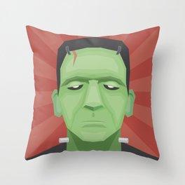 Frankenposter Throw Pillow
