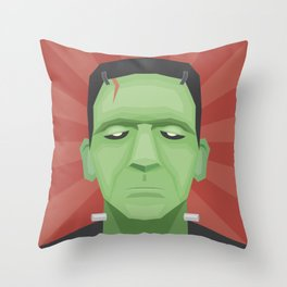 Frankenposter Throw Pillow