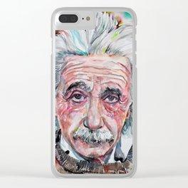 ALBERT EINSTEIN - watercolor portrait.4 Clear iPhone Case