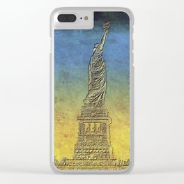 Lady Liberty #4 Clear iPhone Case