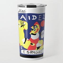 Joan Miro Help Spain, Aidez Espagne 1980 Artwork for Prints Posters Tshirts Bags Women Men and Kids Travel Mug