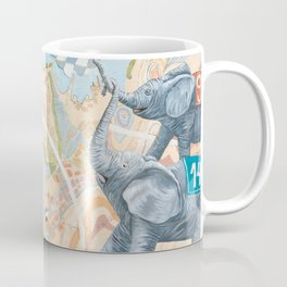 Elephant football game Coffee Mug