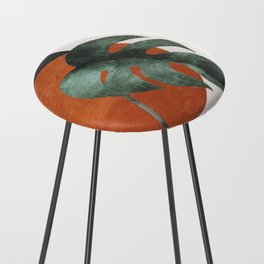 Abstract Art / Plants Counter Stool