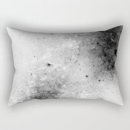 Creeping Black - Abstract black and white Rectangular Pillow
