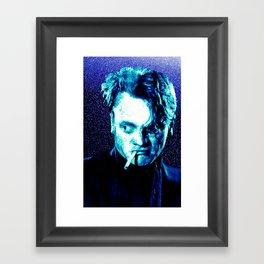 James Cagney, blue Madness. Framed Art Print