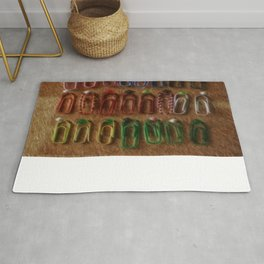 Funny paper clips Rug