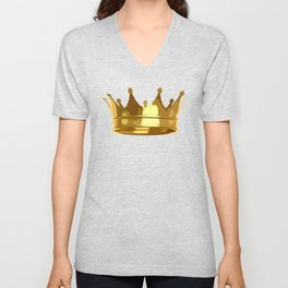 Royal Shining Golden Crown for King or Queen Unisex V-Neck