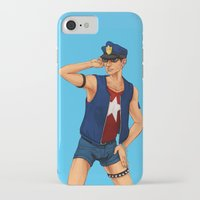 resident evil iPhone & iPod Cases featuring Resident Evil: Policeman Piers by Margaret Esaak