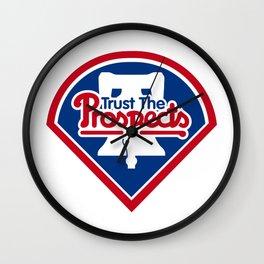 Trust the prospects logo Wall Clock