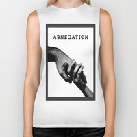 divergent Biker Tanks featuring ABNEGATION - DIVERGENT (draw by me) by MarcoMellark